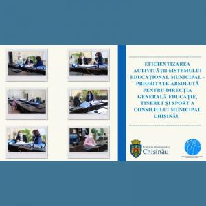 Eficientizarea activității sistemului educațional municipal – prioritate absolută pentru Direcția Generală Educație, Tineret și Sport a Consiliului municipal Chișinău